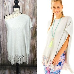Lilly Pulitzer Floreanna Fringe Sweater
